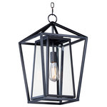Maxim Lighting - Artisan 1-Light Outdoor Pendant - This frame inside a frame design is the perfect update to this classically inspired outdoor lantern. Durable stainless steel construction is finished in Black and supports an inner frame of Clear panels of glass for a crisp and clean appearance.