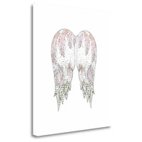 """Wings With Pink Feathers"" By Sarah Ogren, Giclee Print on Gallery Wrap Canvas"