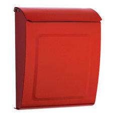 Aspen Locking Wall-Mount Mailbox, Red