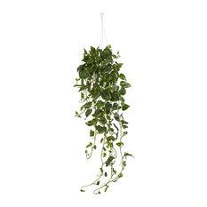 Artificial Plant -Pothos Hanging Basket Silk Plant