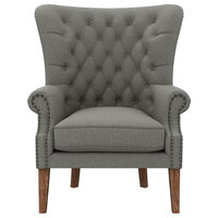 Willowby Gray Tufted Armchair