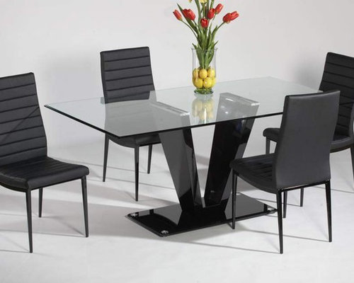 glass contemporary dining tables and chairs. refined glass top leather italian modern table with chairs - dining tables contemporary and