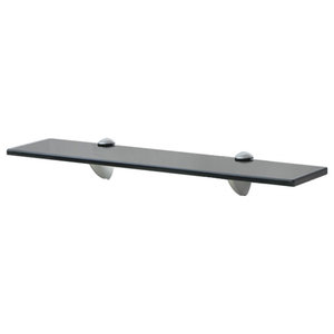 VidaXL Floating Shelf, Black, 8 mm, 50x10 cm