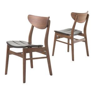 GDF Studio Norden Mid Century Design Dining Chairs, Set of 2