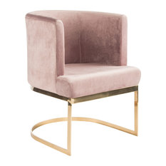 Hazel Gold Dining Chairs, Pink, Set of 2