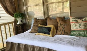 Burlap Day Bedskirt with ruffle
