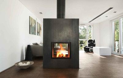 panorama kamin als raumteiler 10 experten tipps f r den einbau. Black Bedroom Furniture Sets. Home Design Ideas