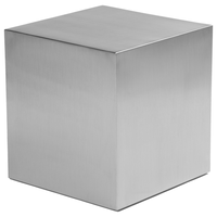 "Lanscer 16"" Side Table Brushed Metal"