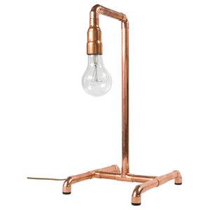 Copper Pipe Retro Table Lamp
