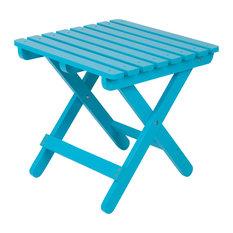 Adirondack Folding Table, Turquoise, Square