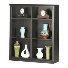 """Eagle Furniture 48"""" Coastal Tall, Double Wide Coastal Bookcase, Black"""