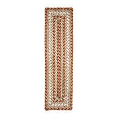 "Winter Wheat Ultra Wool Braided Stair Tread Rectangle 8""x28"",Green"