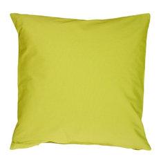 Pillow Decor - Caravan Cotton Lime Green 16 x 16 Throw Pillow