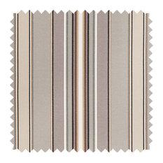 Deluxe Roman Shades Plain Fold, 28Wx60H Harrison Stripe Graphite