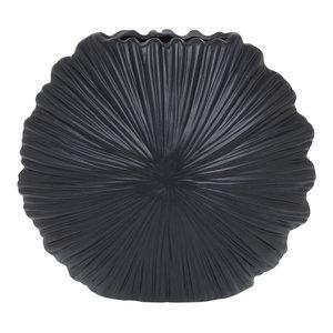 Short Nautical Seashell Vase in Black