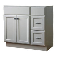 """JSI - Jsi Plymouth 42"""" White 2-Door Vanity With 2 Right Hand Drawers, Cabinet Only - Bathroom Vanities and Sink Consoles"""