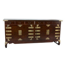 oriental furniture korean antique style 8 drawer double cabinet credenza buffets and sideboards - Wynwood Furniture