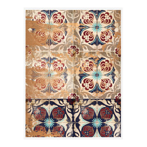 """Moroccan Tiles"" Geometric Art Print, Print Only, 50x70 cm"