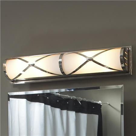 Bath lighting with classic clean lines - Schoolhouse bathroom vanity light ...