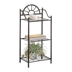 Bowery Hill Metal Sunburst Accent End Table In Black