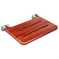 Mr Steam MSWSEAT Teak Wood Fold-Up Wall Mounted Shower Seat