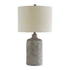 """Linus Antique Black 25"""" Ceramic Table Lamp"""