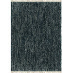 "Orian Rugs - Orian Rugs Bedouin Solid Indigo Area Rug, 7'10""x10'10"" - In a deep blue that evokes all the serenity of a calm sea, the Solid Bedouin Indigo Area Rug with Fringe is the perfect way to add subtle color to your space. Crafted in the USA by replicating a wool construction with machine-made synthetic fibers, this rug will continue to bring everlasting beauty for years to come.  Plus, with a thick pile height and trendy fringe, this neutral rug will provide unending coziness for any home."
