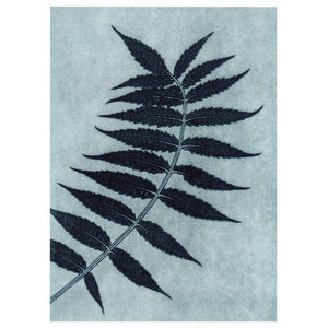 """Sumac"" Paper Print, Petrol Blue, 30x40 cm"