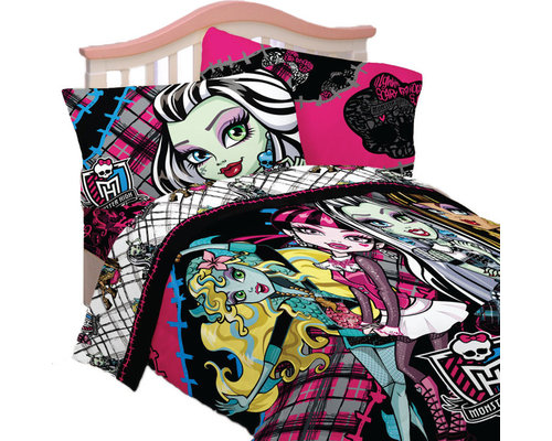 Store51 LLC   Monster High Full Bedding Right To Fright Comforter Sheets    Kids Bedding