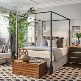 Transitional bedroom photo in Chicago
