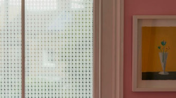 'Geoflower' transparent window film by Brume
