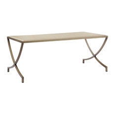 Pangea Home   Steve Coffee Table With Marble Top, Tinted/Brass   Coffee  Tables