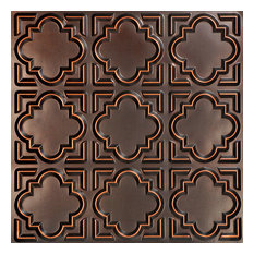 "Casablanca, Faux Tin Ceiling Tile, Antique Copper, 24""x24"""