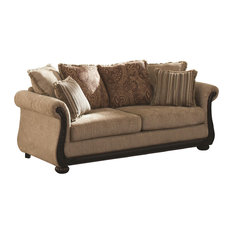 Coaster Home Furnishings Beasley Traditional Sofa With Rolled Arms And Wood Trim Sofas