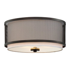 Light Visions Coastal 3 Flush Mount In Oil Rubbed Bronze