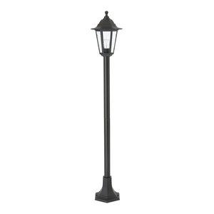 Searchlight 73cm Black Aluminium Outdoor Garden Garage Bollard Lamp Post Light