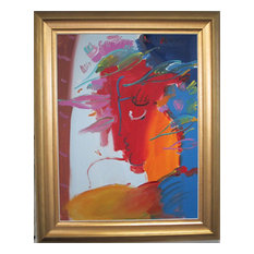 "Peter Max ""Profile"" Painting"