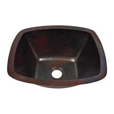 """16"""" x 14"""" Rectangular Copper Kitchen Bar Prep Sink"""