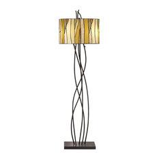 Oak Vine 1 Light Floor Lamp in Bronze