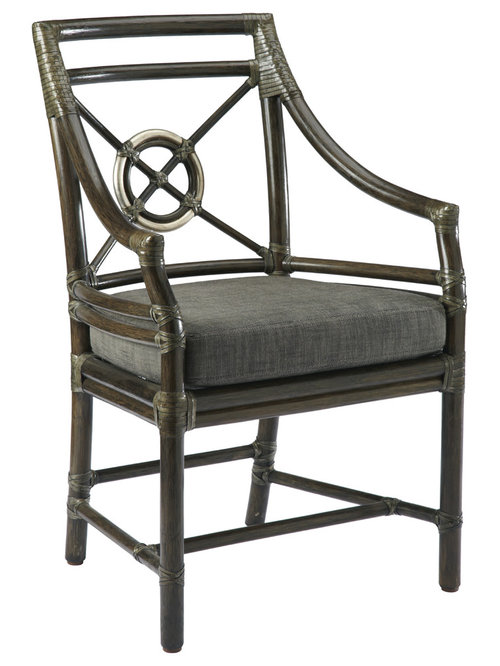 McGuire Furniture   Rattan Target™ Arm Chair: M 59   Dining Chairs