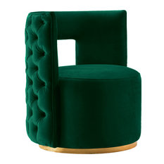 Theo Velvet Accent Chair, Green