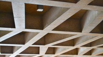 Cast in-situ concrete coffer ceiling, Girdwood Community Hub, Belfast
