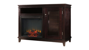 Wine Cellar Infrared Media Fireplace With Wine Cabinet