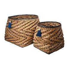 Set of 2 Medan Banana Bark Storage Baskets