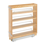"""Pull-Out Wood Base Cabinet Organizer, 5"""""""