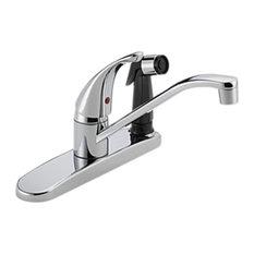 Peerless P114LF Kitchen Faucet Widespread - Chrome