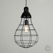 Industrial Style Electric 'Bulb Shape' Caged Pendant