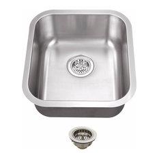 "Undermount 16.12"" Single Bowl 18-Gauge Stainless Steel Bar Sink"