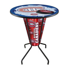 Lighted Montreal Canadiens Pub Table