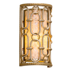 Sweet Talk Wall Sconce, Silver Leaf Finish with Gold Leaf Accent